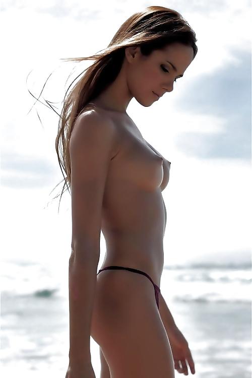Bilder av yngre horar på stranden